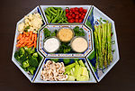 This vegetable platter includes some very healthy