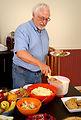A man serving food