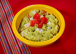 Here's a healthy dish consisting of avocado, onion