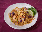 This image depicts a dish entitled, Soba Peanut No