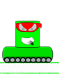 Green Canman Ninja with a continuous track