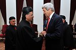 Secretary Kerry Meets With Christian Maronite Patriarch Rai in Beirut