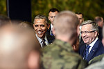President Obama and Polish President Komorowski Meet With U.S. and Polish Airmen