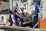 Secretary Kerry, Mayor Denby Wilkes, Photographer Vaccaro Cut Ribbon on Renamed Town Square