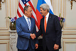 Secretary Kerry, Russian Foreign Minister Lavrov Address Reporters Before Meeting in Paris