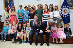 Ambassador Barzun, Secretary Kerry Pose With Children of Embassy London Staff During Meet-and-Greet Gathering