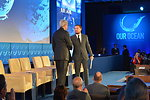 Leonardo DiCaprio Shakes Hands With Secretary Kerry Prior to Delivering Remarks at the 'Our Ocean' Conference