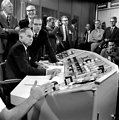 Startup of MSRE with U-233 with  Atomic Energy Commission Chairman Glenn Seaborg setting at the controls 1968 Oak Ridge