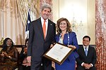 Secretary Kerry With TIP Hero Elisabeth Sioufi of Lebanon