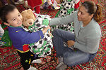 Airmen, Soldiers donate goods to Uzbek baby orphanage