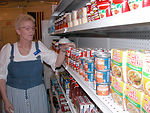 Stocking shelves in Iraq