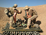 Airmen clean up Iraqi stockpile