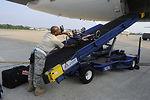 Airmen there as hurricane evacuation begins