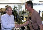 Rumsfeld, Myers visit New Orleans airport