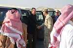 Former president visits deployed troops