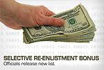 Selective re-enlistment bonus
