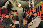 U.S. military aircraft bring displaced Egyptians home