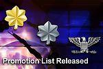 Officer promotion list released