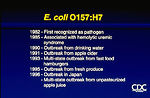 E. coli O157:H7 (chronology)