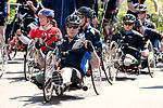 Servicemembers send wounded cyclists off at White House