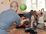 Manas Airmen help support Kyrgyzstan disabled children