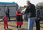 Manas Airmen deliver care packages to Kyrgyz villagers
