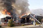 Aviano fire destroys building