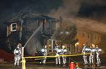 Blaze destroys base housing unit