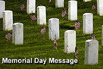 Leaders issue Memorial Day message