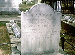 Tombstone of Henry Warren, R.N., who died of yello
