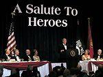 President thanks veterans for service during inaugural ball