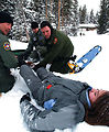 Snowy rescue