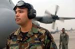 Airmen brandishing a 'Keen Sword'