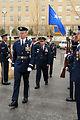 Air Force Review held at memorial