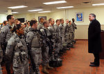 Secretary of the Air Force Michael Donley visits Minot Air Force Base