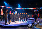 Singing at the NBA All-Star game