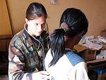 Air Force medics treat Cambodians