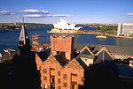 Harbor and Opera House from The Rocks, Sydney, Aus