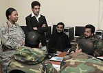 Afghan air force help desk receives upgrade training