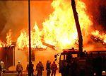 Yokota, Japanese firefighters dowse base fire