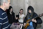 Band members connect with Kyrgyzstan music students
