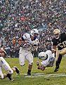 Football: Falcons outfight Irish, 41-24