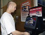 Eagle Cash lands at Air Force base