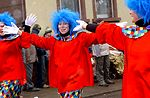 Clowns perform during the Fasching Parade in Ramst