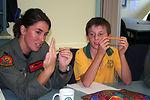 Airmen visit Australian primary school