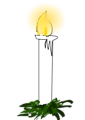 Illustration of a Christmas candle