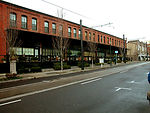 The partially raised sidewalk in this 2004 image,