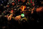 Special Tactics Airmen jump at night
