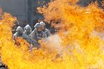 Crews train to fight fire
