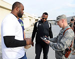 NFL players visit Bagram Airmen
